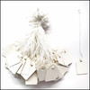 White String Hard Paper Tags