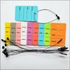 Mix Color Printed Price Paper Tag labels with Black Loop Pins