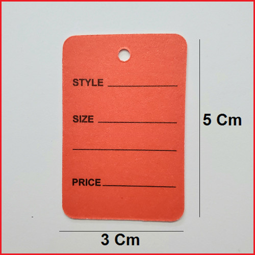 1 Part Red Printed Price Paper Tag labels