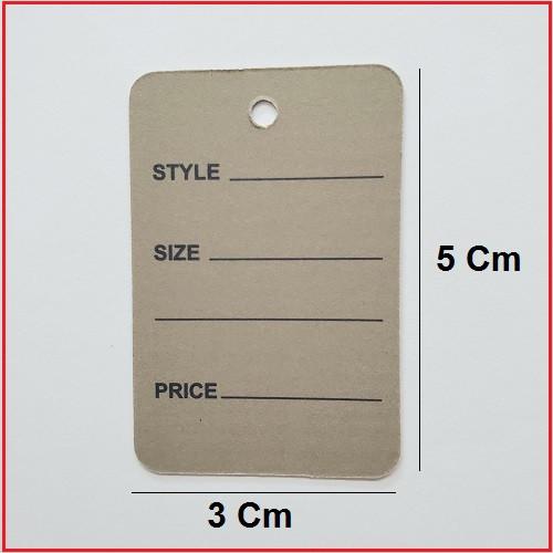 1 Part Grey Printed Price Paper Tag labels