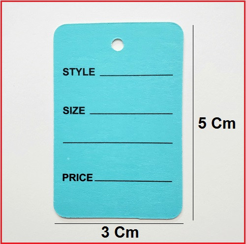1 Part Blue Printed Price Paper Tag labels
