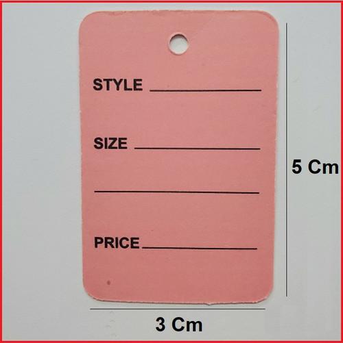 Pink Printed Price Paper Tag labels