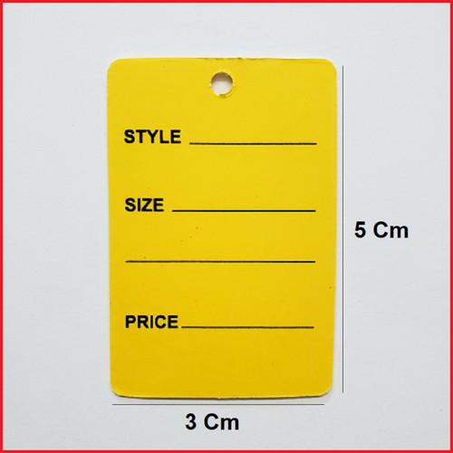 Yellow Printed Price Paper Tag labels