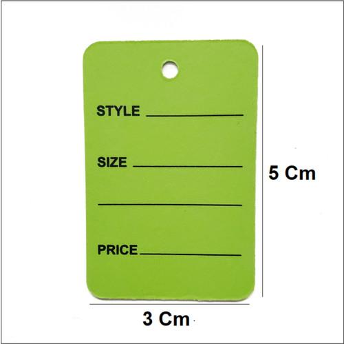 Green Printed Price Paper Tag labels
