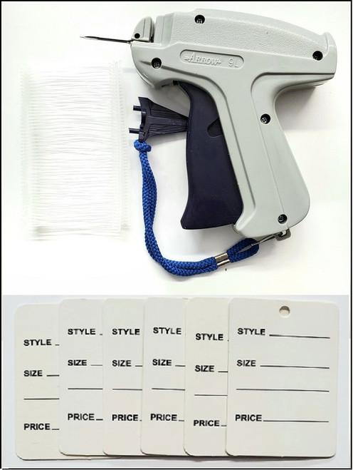 9L Standard Tagging Gun with White Barbs and  White Color Paper Tag