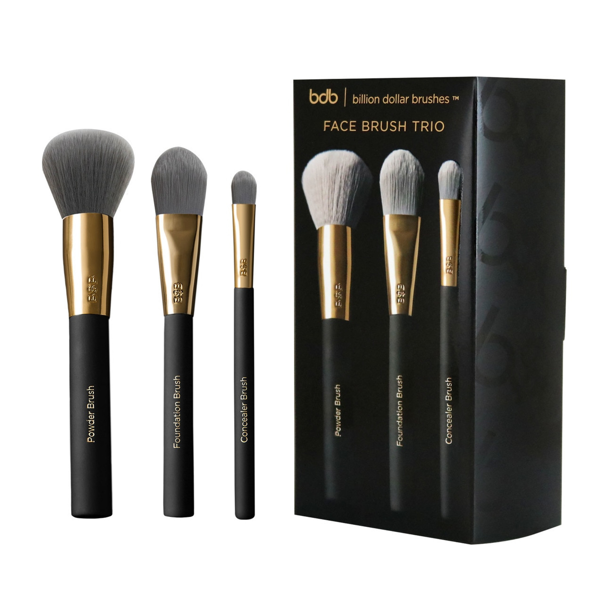 The Face Brush Trio travel product recommended by Tess DiNapoli on Pretty Progressive.