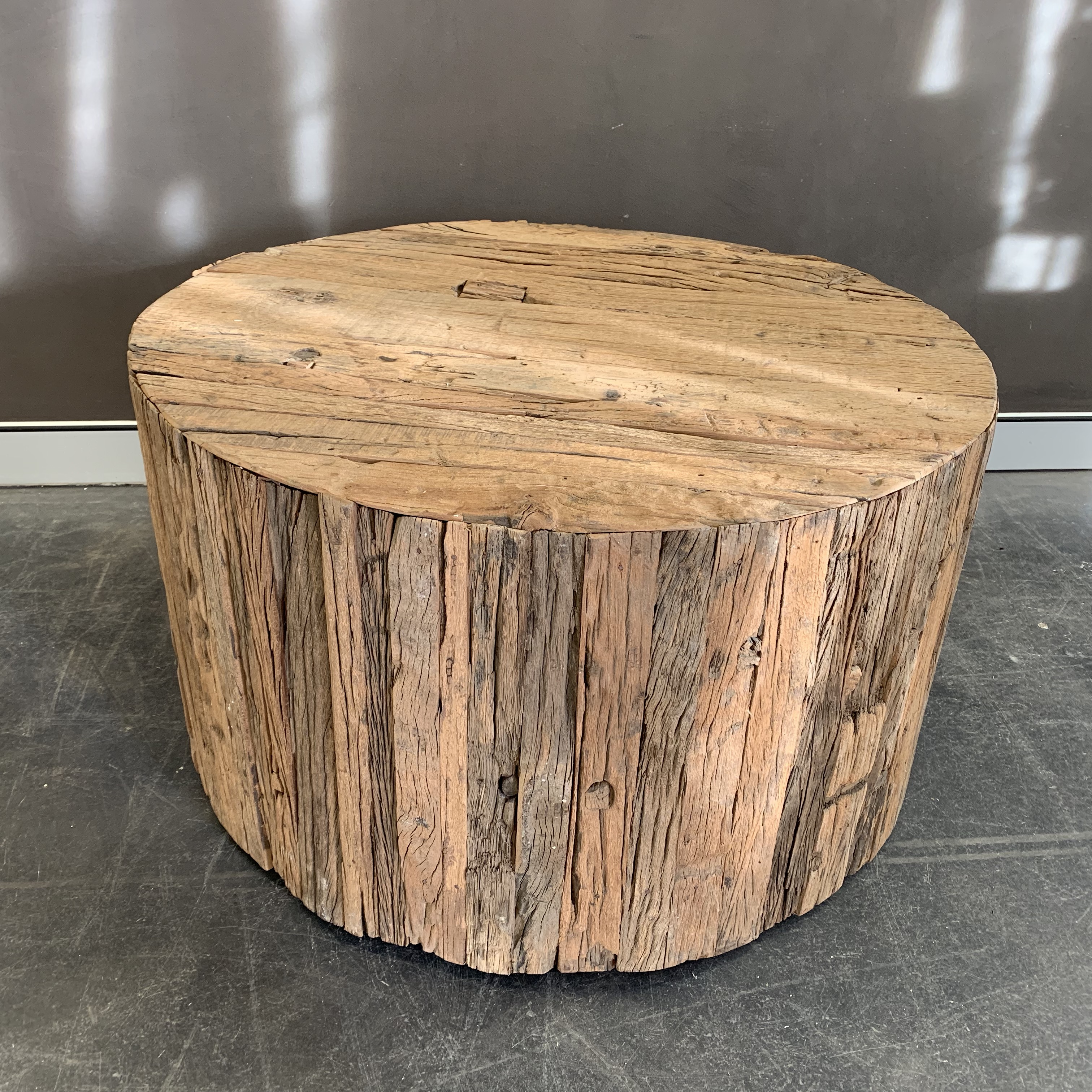 - Rustic Coffee Table, With Wheels - Sohal Living