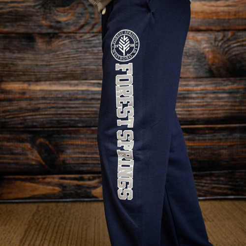 Open-bottom Collegiate Sweatpants