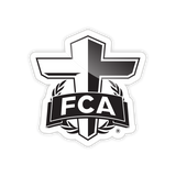 FCA Cross Logo Static Cling Stickers
