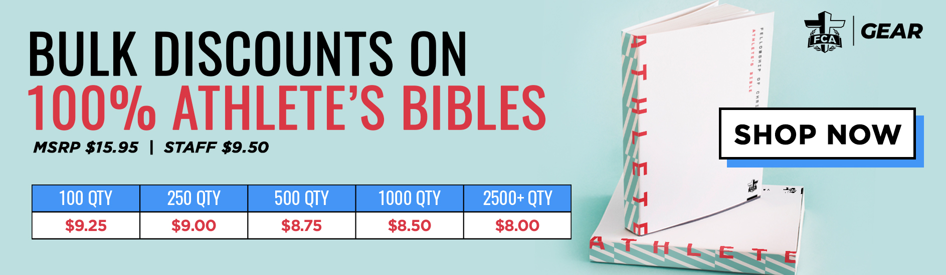 FCA Athletes Bible Bulk Sale