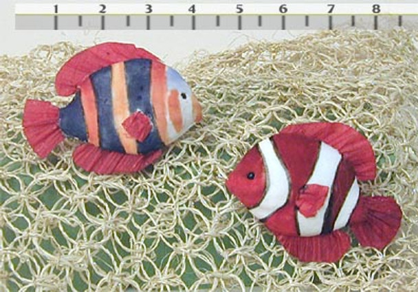 4 inch Polyform CLOWN FISH Crafts Decorative 12 pc Pack