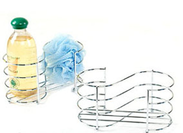 Chrome Wire Two Compartment CADDY