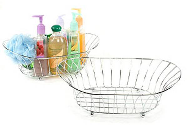 Wire Chrome Plated Tub Large Wire Basket