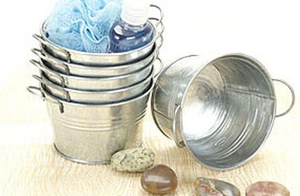 5 inch Round Galvanized Miniature Tin Tub