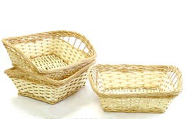 WILLOW Basket Two-Tone Rectangle Tray Small