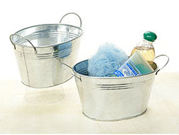 9 inch Oval Galvanized Tub with Handles