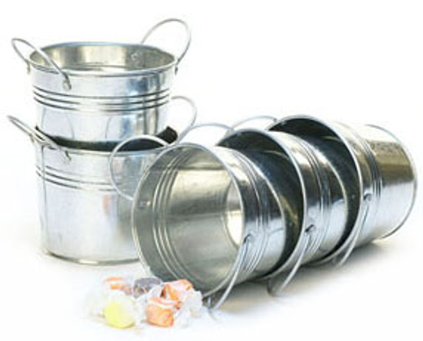 5 inch Round Galvanized Miniature Pot