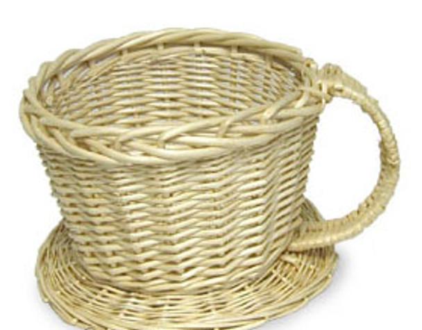 Light Willow TEA/COFFEE Cup Basket