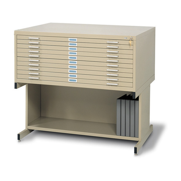 10-Drawer Steel Flat File