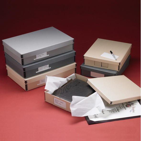 Hollinger Flat Storage Boxes w/ Index Card Pocket