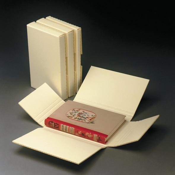 One-Piece, Adjustable Corrugated Book Storage Box