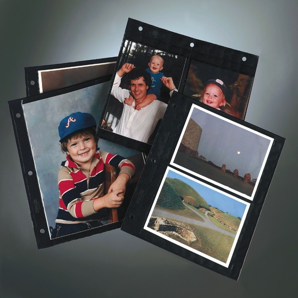 Print File Black Background Album Pages