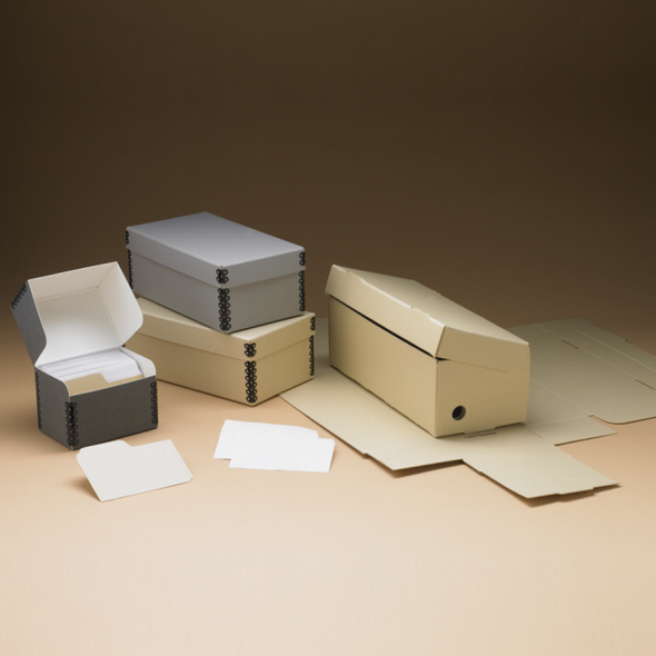 Short Lid Microfiche Boxes