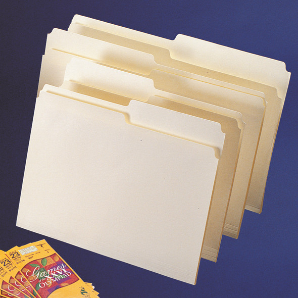 Unreinforced 1/3 and 1/2 Cut File Folders