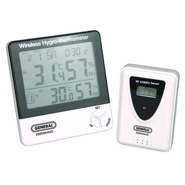 Wireless Temperature Humidity Meter with Remote Sensor