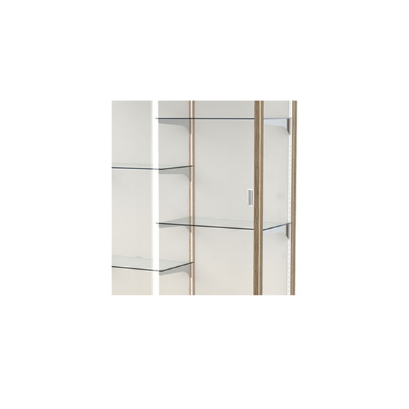 Heritage Floor Model Glass Shelving