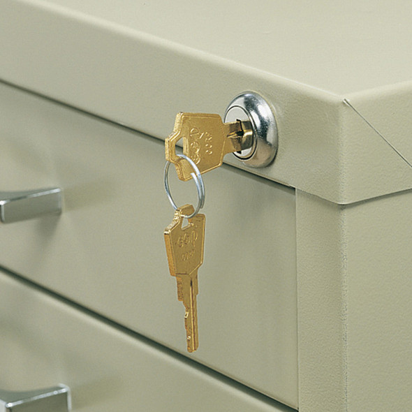 5-Drawer Flat File Lock Kit