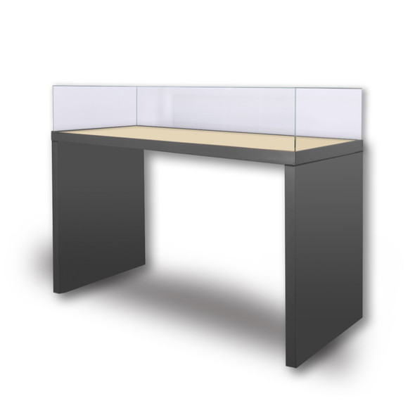 Archival Painted Panel-Leg Table Case Lift-Off Vitrine