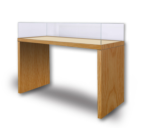 Archival Wood Panel-Leg Table Case Lift-Off Vitrine