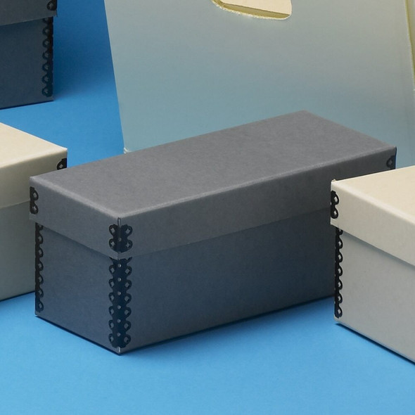 Microfilm Storage Box with Separate  Short Lid