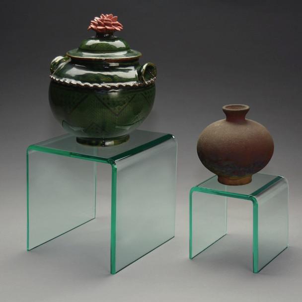 Beveled Green Glass-Look Riser