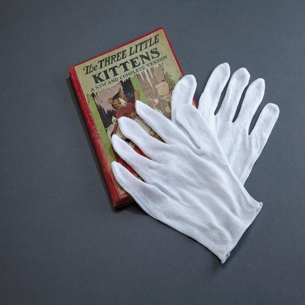 Disposable White Cotton Gloves