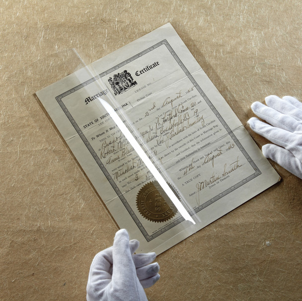 Lightweight Archival Polyester Folders - 2 Mil