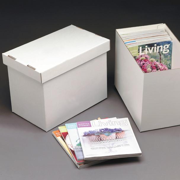 Large Corrugated Magazine Storage Boxes