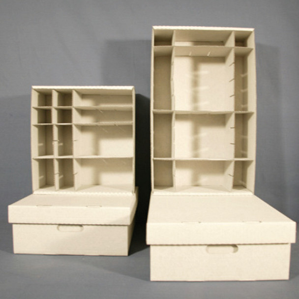 Large, Multi-partitioned Artifact Storage Boxes