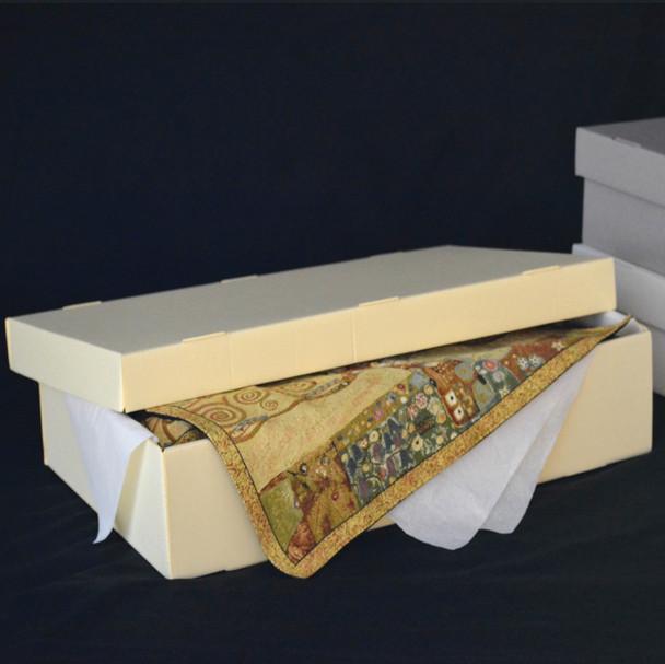 Short Lid Corrugated Textile Storage Box