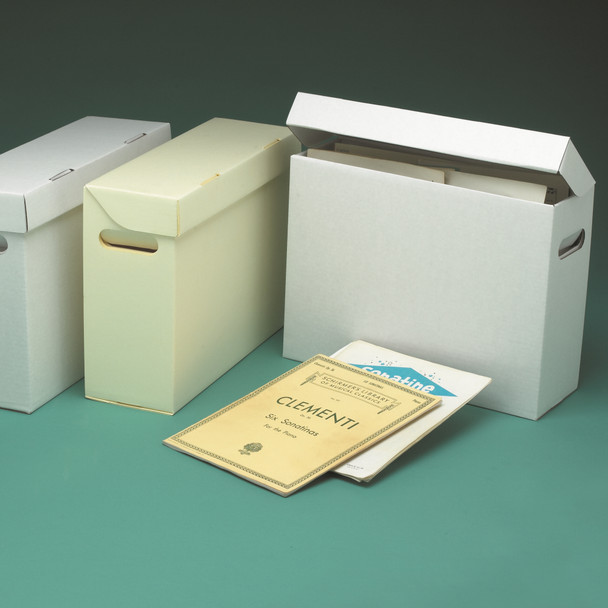 Sheet Music Storage Carton With Attached Lid