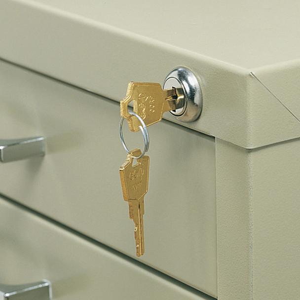 5-Drawer Flat File Lock Kit