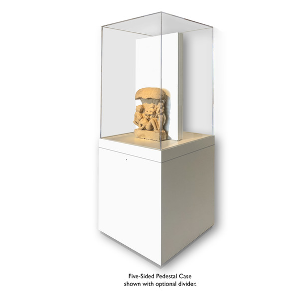 Archival 5-Sided Painted Base Pedestal Case