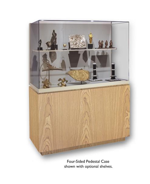 Archival 4-Sided Wood Base Pedestal Case