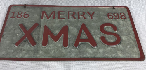 RAZ CAR NUMBER PLATE-MERRY XMAS