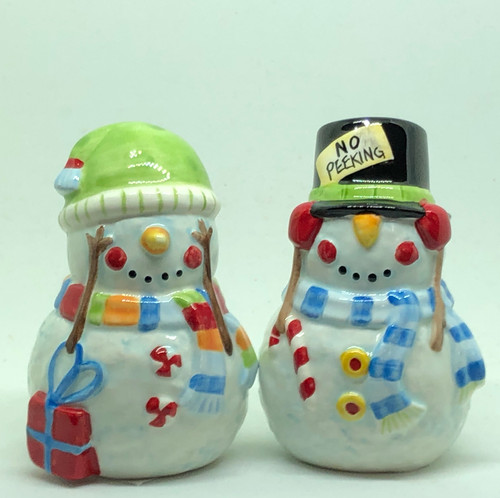 NO PEEKING SNOWMAN S&P SET