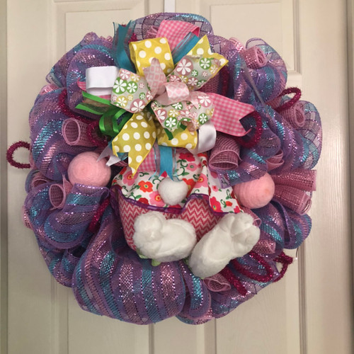 Bunny butt Easter wreath