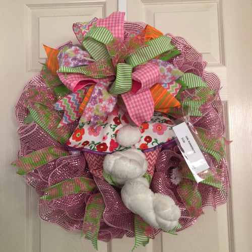 Girl bunny butt wreath
