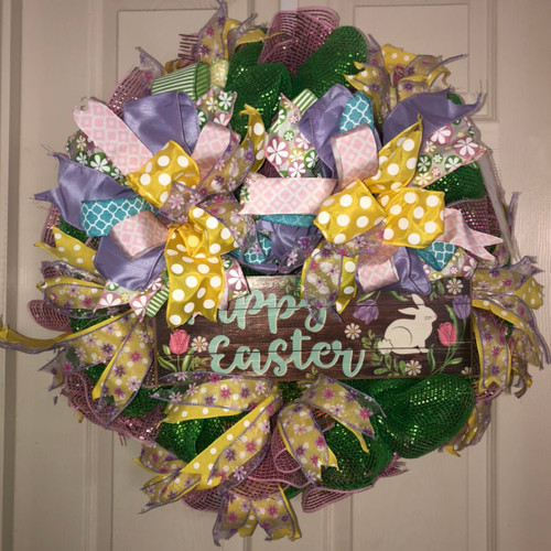 Happy Easter sign wreath