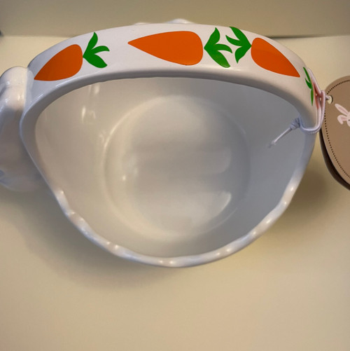 CARROTS AND BUNNY CERAMIC BOWL